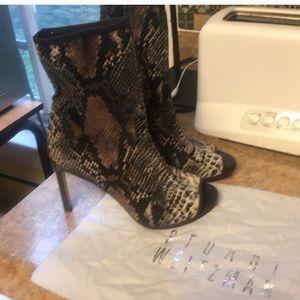 NIB Stuart Weitzman AWESOME Peeptoe Stiletto Boots